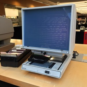 microfiche reader old tech