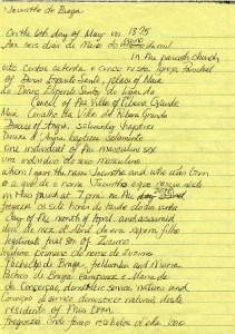 portuguese baptismal record transcribed