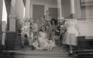 double exposure family photo