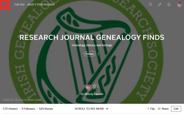 genealogy research journal flipboard
