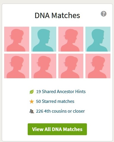 ancestrydna match list
