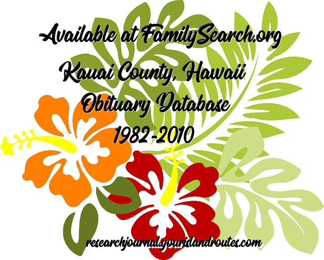 kauai obituary database