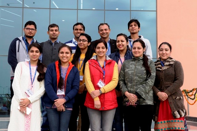 Dr. Siddharth Tiwari (second from top right) with the research team at NABI