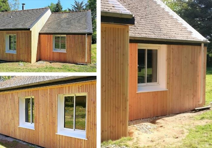 Isolation Thermique Par L Exterieur Bardage Bois Faux Claire Voie St Medard Sur Ille Ille Et Vilaine 35 Iso Habitat 35