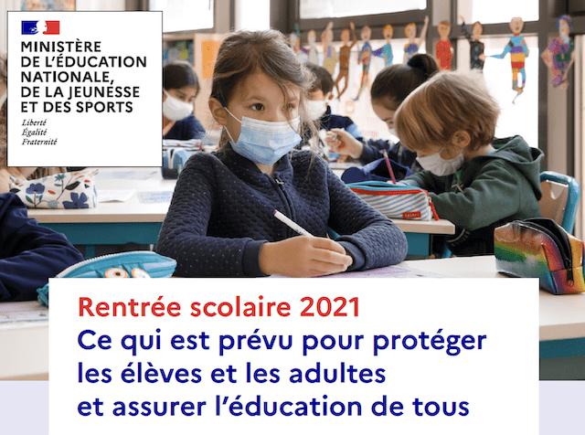 You are currently viewing Rentrée scolaire 2021 : Ce qui est prévu pour protéger les élèves et les adultes et assurer l'éducation de tous !