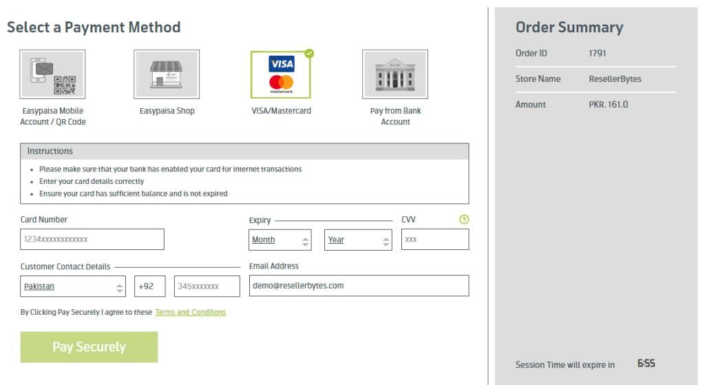 Pay via Visa / Master Credit Card