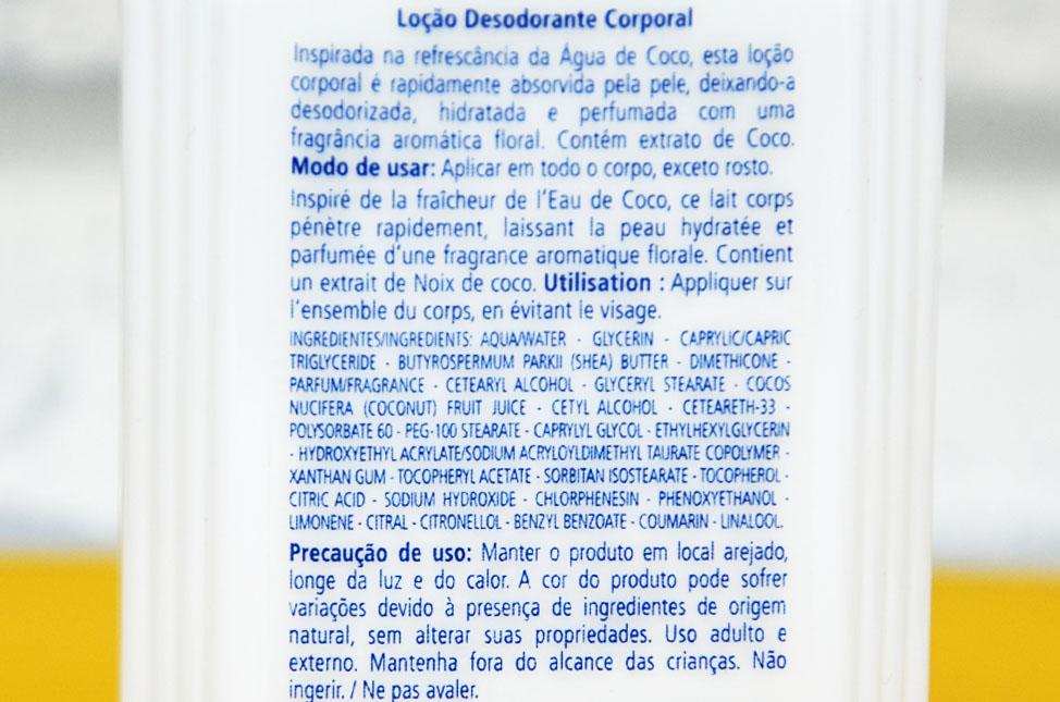 Loção Corporal Água de Coco da L'Occitane Au Brésil