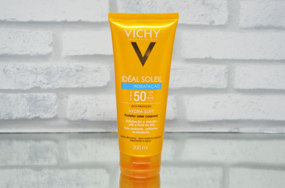 Protetor Solar Idéal Soleil Hydrasoft FPS 50 da Vichy