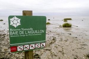 Panneau réglementaire (RNN Baie Aiguillon)