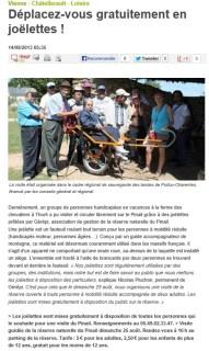 Des joëlettes sur le Pinail, Nouvelle République