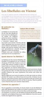 Les libellules en Vienne, Vienne nature été