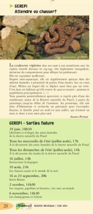 Bulletin municipal Vouneuil-sur-Vienne, juin 2016