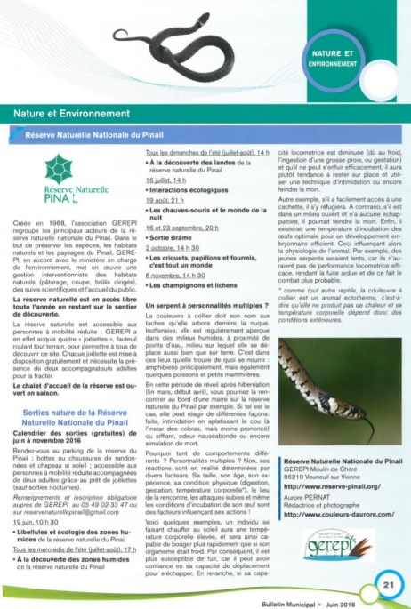 Bulletin municipale de St Cyr, juin 2016