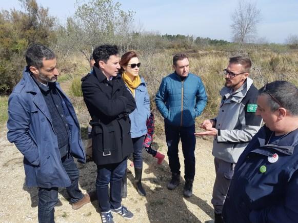 Echange sur l'impact du changement climatique sur la biodiversité de la Réserve naturelle du Pinail avec des élus de la Région Nouvelle-Aquitaine (15/04/2019)