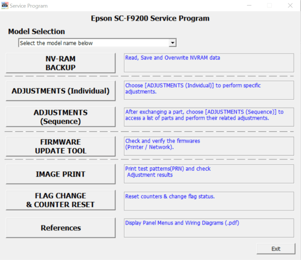 Service Program for Epson SureColor Series SC-F9200 (Free PDF Manual)