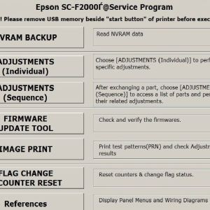 Reset iNKjET,All Epson Adjustment Program, Service Program
