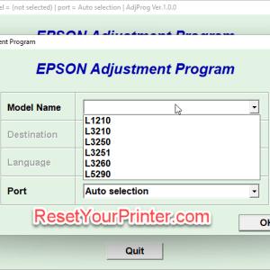 Epson L3210 Adjustment Program