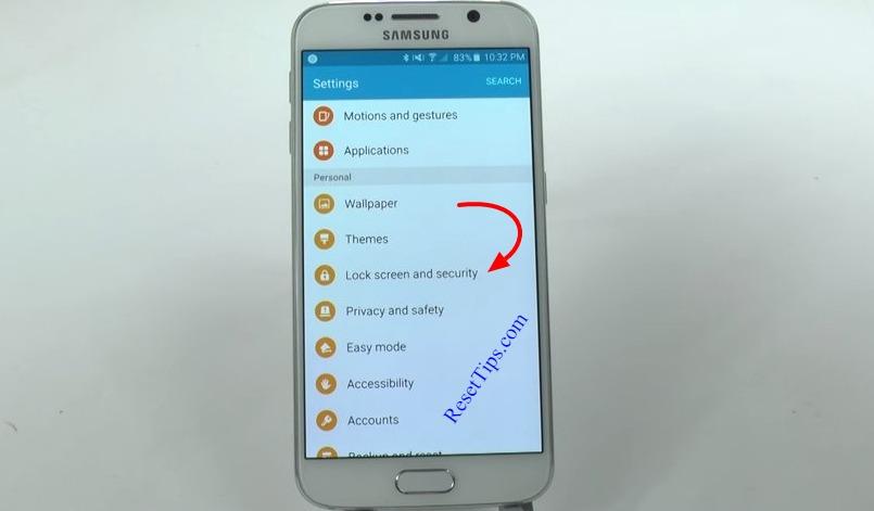 hard reset Galaxy S6 - hidden feature-19