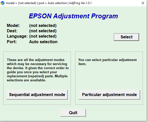 Reset Epson L382-L386-L486 100/% versão Ecc