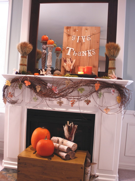 Living Room Give Thanks Decor Ideas Pictures