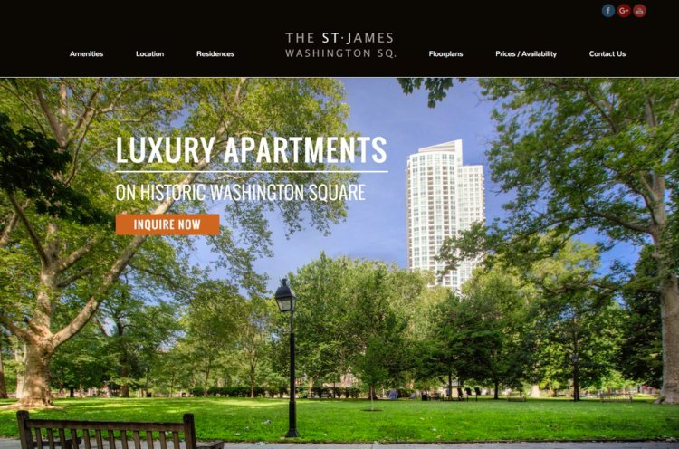 Apartment Website Design - Large Background Image 2