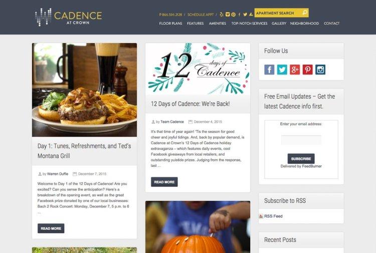 Resident Blog - Website Design Trend