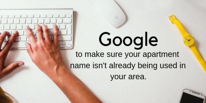 Google Apartment Names