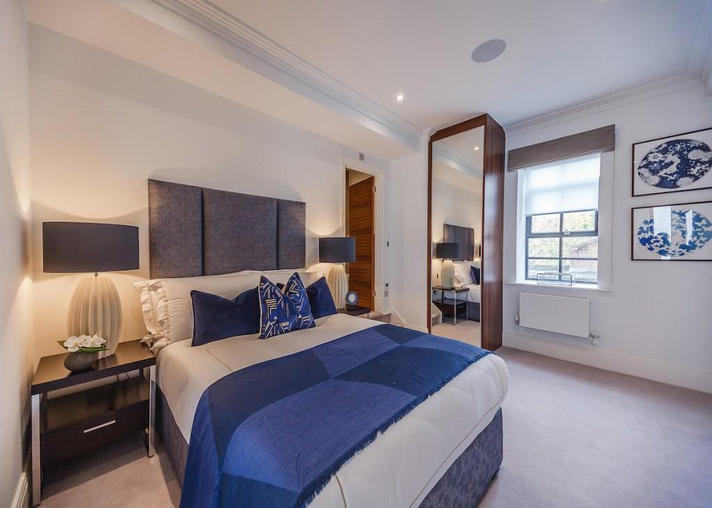 A bedroom at Palace Wharf.