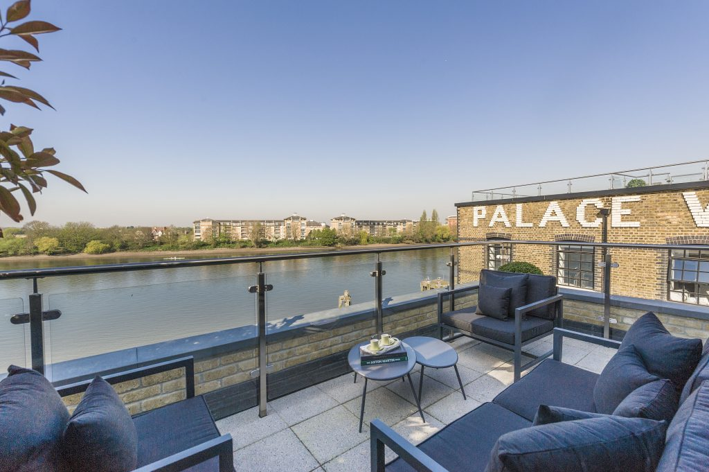 Palace Wharf Townhouse Roof Terrace With View of the River Thames