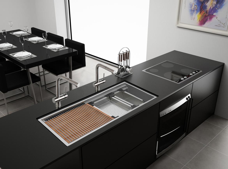 versatile workstation kitchen sink