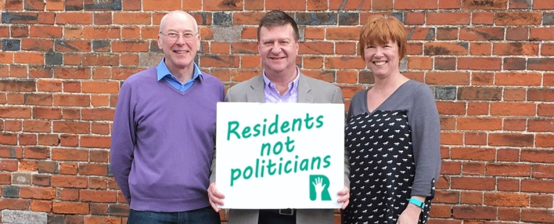 "What does it mean? ""Residents not Politicians"""