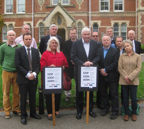 Uttlesford United Residents: a coalition of residents groups, Town and Parish Councils, and individuals from across the District, including WeAreResidents.org, Save Newport Village, the Joint Parish Councils Steering Group (Save Our Villages, Henham & Elsenham), Save Stansted Village and Takeley Parish Council.