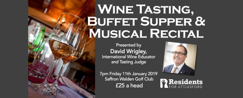 Event: Wine Tasting with Buffet Supper & Musical Recital | 11th January | £25 a head | Saffron Walden Golf Club