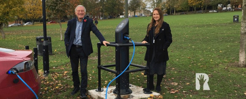 New Electric Vehicle Charging Points opened on Saffron Walden Common as part of Uttlesford-wide plan