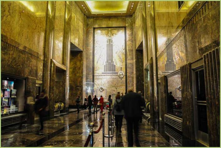 Hall d'entrée Empire State Building à New York
