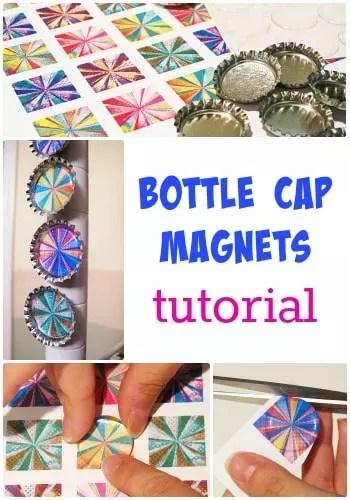 bottle cap magnet tutorial