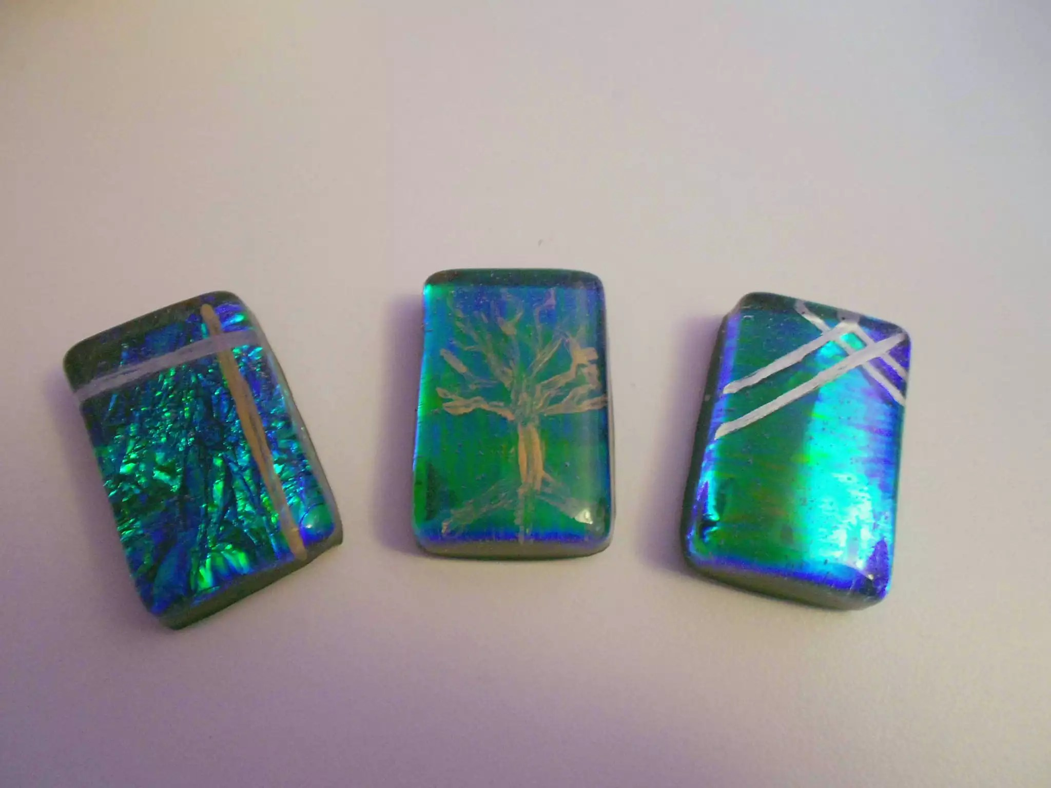 faux fused glass resin charms