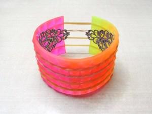 ombre resin bracelet cuff