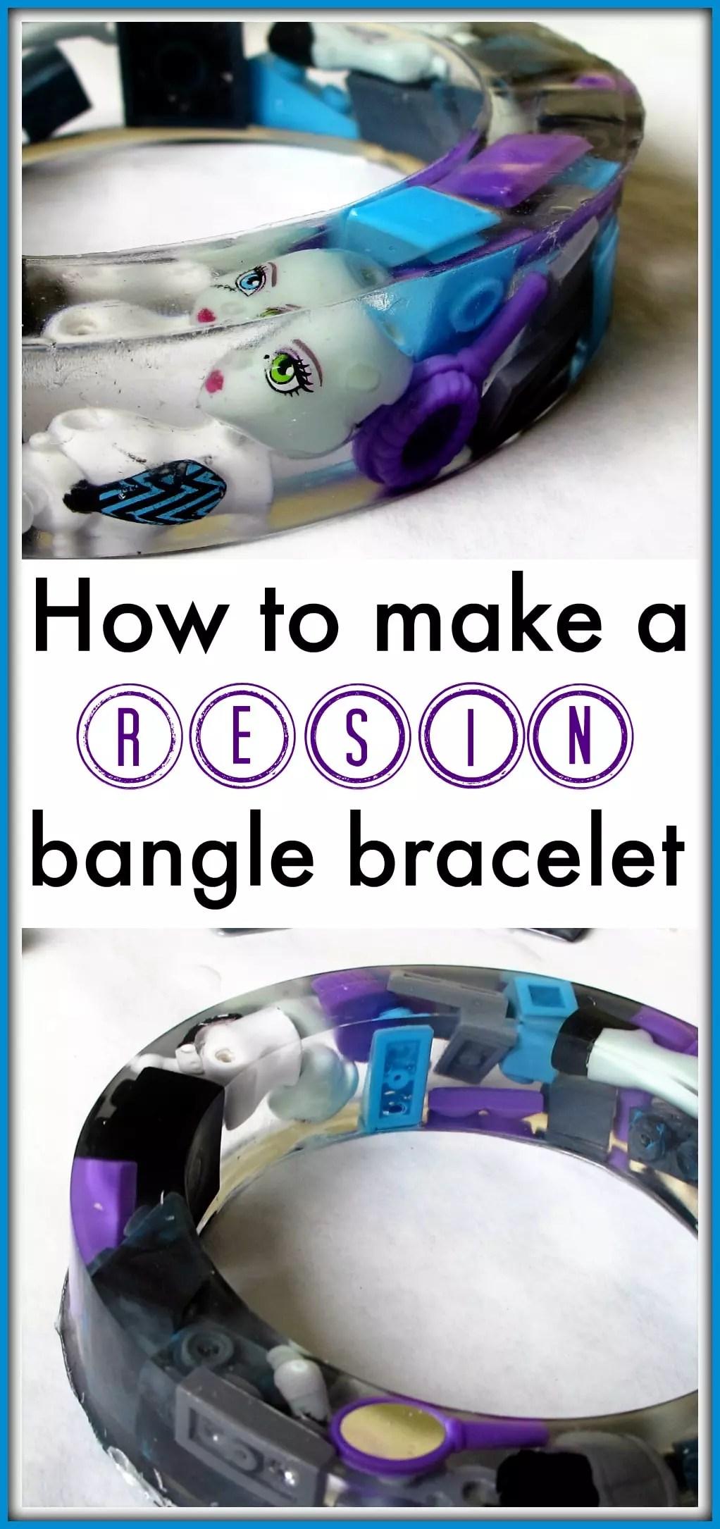 resin casting bangle bracelet