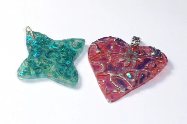 resin charms with bails