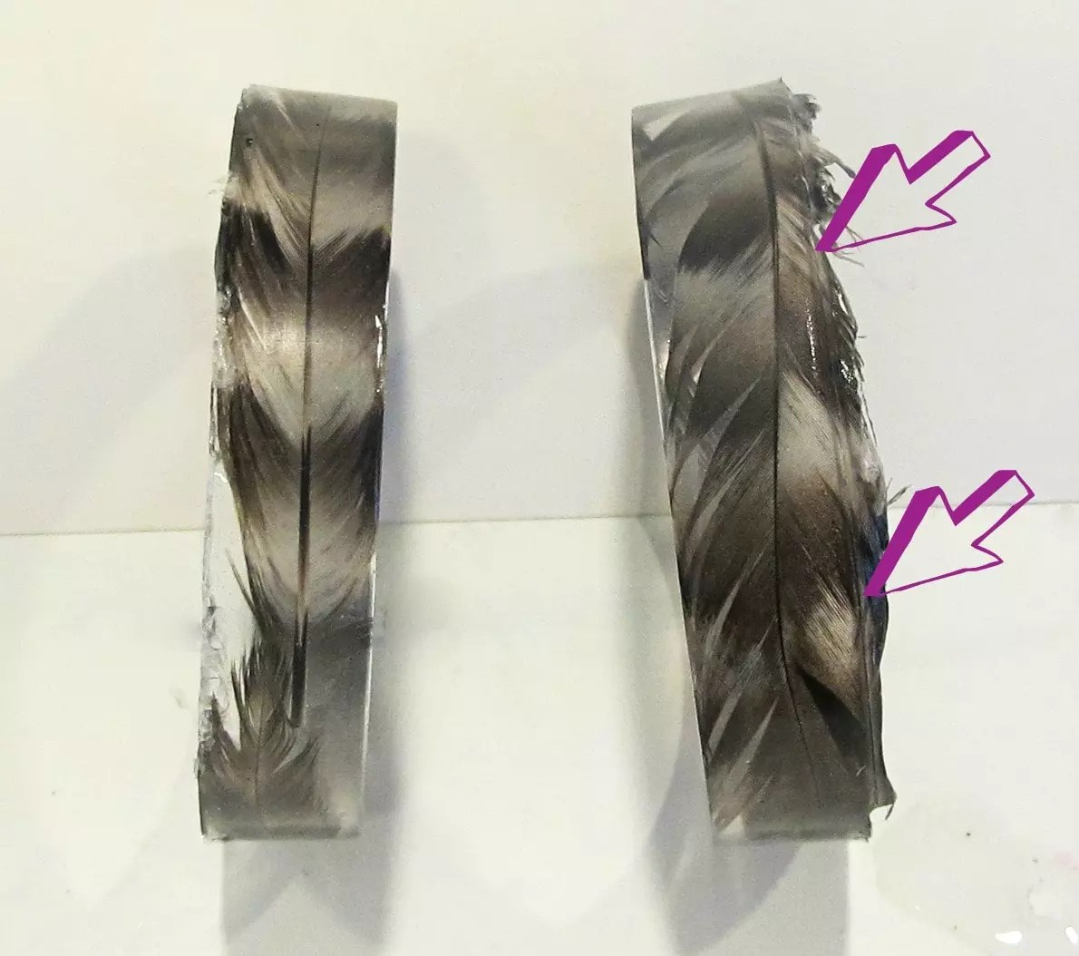 feather resin bracelets DIY