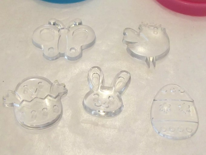 Easter charms made with Resin Obsession super clear resin