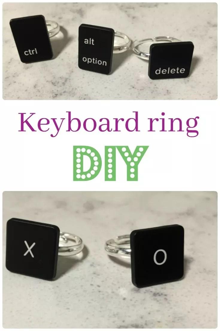 keyboard ring diy