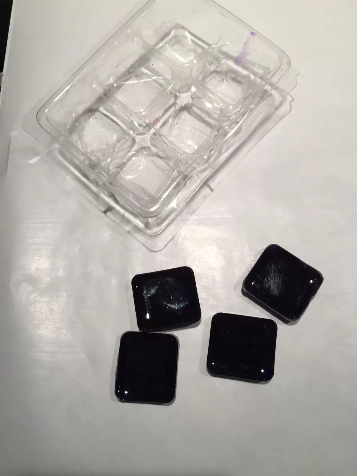 resin castings from a candle mold