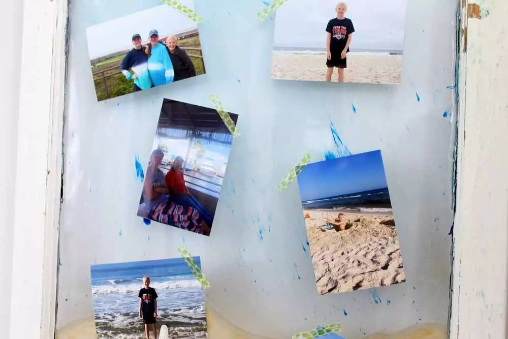 beach vacation photo display