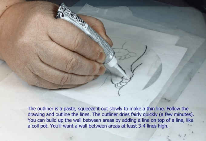 using pebeo outliner paint