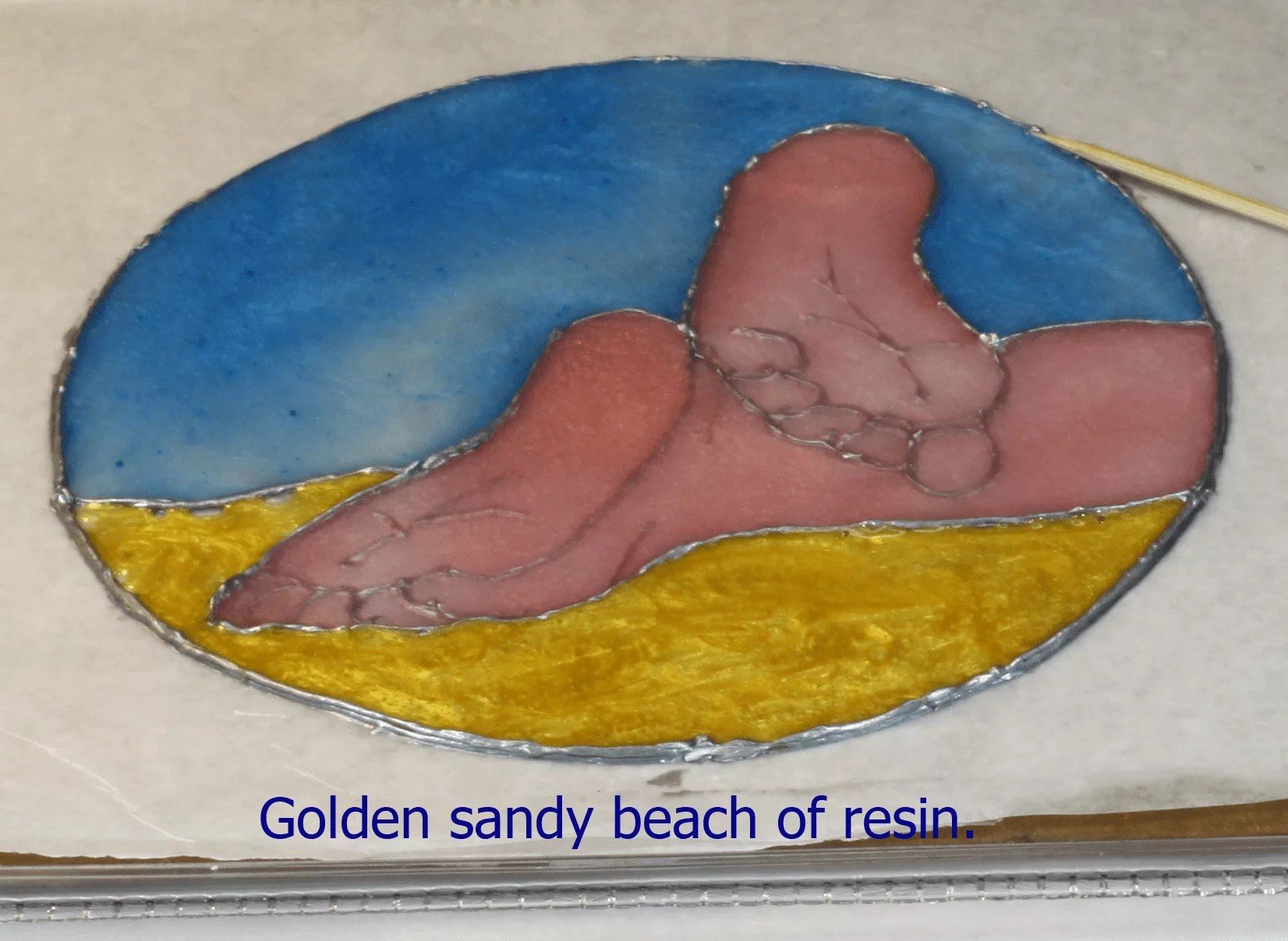 beach theme resin project
