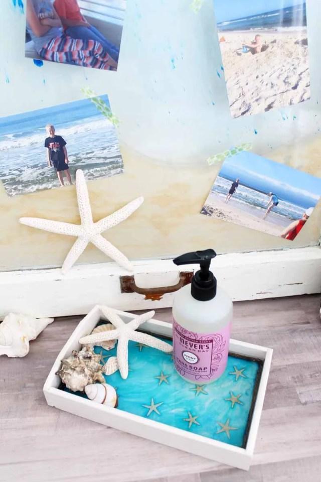 beach decor tray