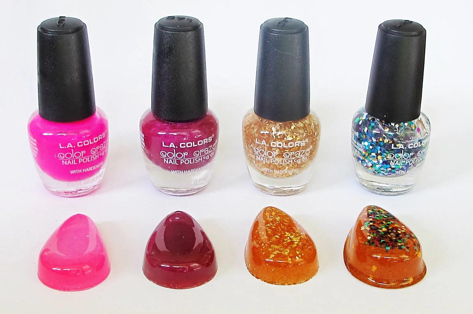 nail polish mixed with resin