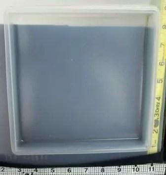 square plastic resin mold